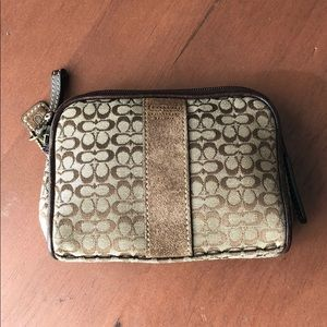 Small Coach cosmetic bag